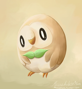 Rowlet by Masae