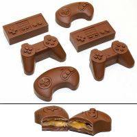 Caramel-filled Game Controller Chocolates by TheKnightAngel