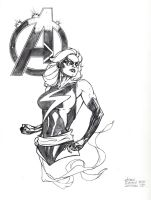 Ms Marvel Con sketch by DrewEdwardJohnson