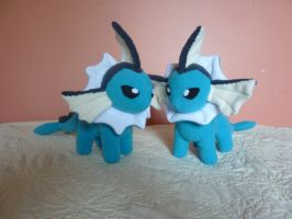 vaporeon plushie commission by Plush-Lore