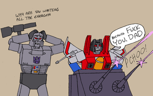 Shitty Teenage Son Starscream by fuzzyrobot