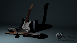 Low poly Guitar Render by 0x6D6164