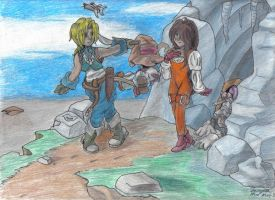 FF9: Leaving the ice caverns by Zetra
