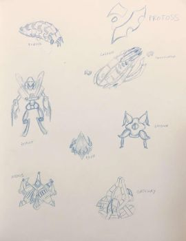Protoss Sketches by jonnymhenderson