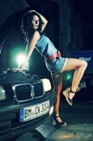 Cora and the Car II by ChrisK-photo