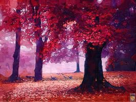 red trees by imageking10