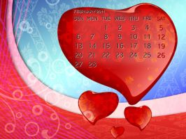 Desktop Calendar: Feb. 2011 by B-Rox-U