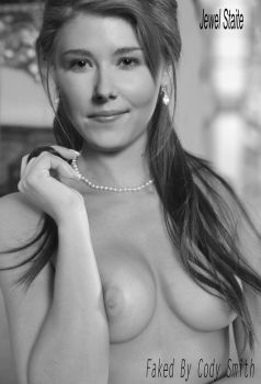 Jewel Staite Black and White Fake by cody2345