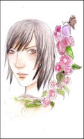 Flower and Butterfly by roze-hip-zero