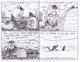 Dick the WWII Cat-Snake-Monster Page 6 by joshthecartoonguy