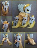 Princess Derpy and her minions  - FiM custom pony by hannaliten