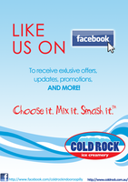 Cold Rock Indooroopilly Poster by kanazuchi92