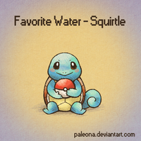 Favorite Water - Squirtle by Paleona