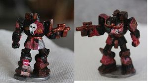 Battletech Wolverine paintjob by KittyHMommy