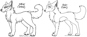 Free Wolf Lineart by Hohtosusi