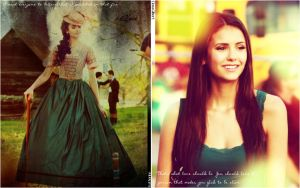 Katherine and Elena wallpaper by Viciousdope