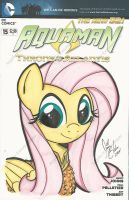 Fluttershy as Aquamare by PonyGoddess