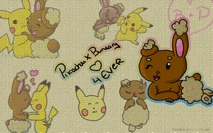 PikachuXBUNEARY wallpaper by fercatas