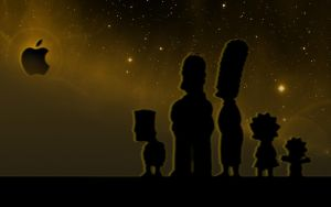 The Simpsons Family - Apple Wallpaper by iFab