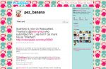 Pez Banana's Twitter page by pezbananadesign