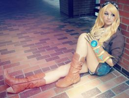 My female ezreal cosplay by kawaiilullaby