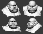 Obese Zombie Head by ivilai