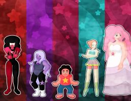 Steven Universe Bookmark Set 1 Wallpaper by serenchi