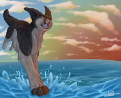 I can walk on water i can fly 2014 by Brambelpaw