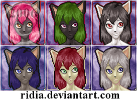 Random Female Feline Portrait by ridia