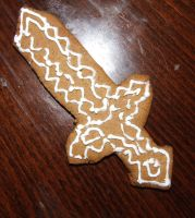 Minecraft Sword Gingerbread by Abystoma