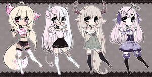 Chibi Mix Adoptables 17 :: CLOSED :: (0/4) by Hunibi