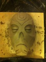 Dragon Priest Mask - Unfinished by CaptainFreetoast