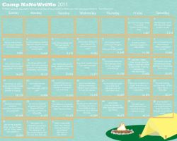 Camp NaNoWriMo 2011 Calendar by DastardlyRomantic