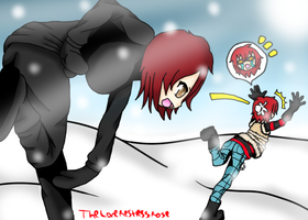 Snowball Fight - CHRISTMAS DRAWING CHALLENGE -DAY2 by TheLoneRestlessRose