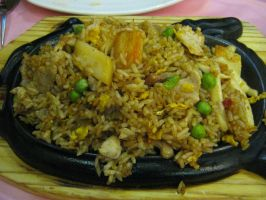 rice with fish meat and vegetable by Sambukina