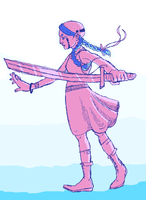 a girl and her sword by colorwonders