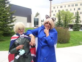England and France- Otafest 2012 by Roseofshadows853