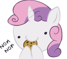 Sweetie Belle - Nom Nom by Ocarina0fTimelord