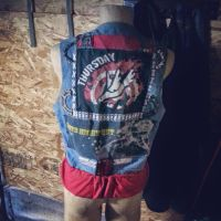 punk cycling vest  by chaingears