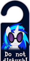 Vinyl Scratch Door Knob Hanger by Thorinair