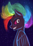 Nightmare Rainbow Dash by ElkaArt