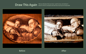 Breaking Bad (before/after) wood burning by brandojones