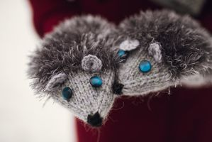 Hedgehog mittens by NatalieKnit