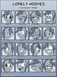 Lonely Hooves Expression Sheet by Zaron