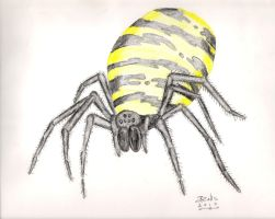 Yellow Venom Spider by jmralls2001