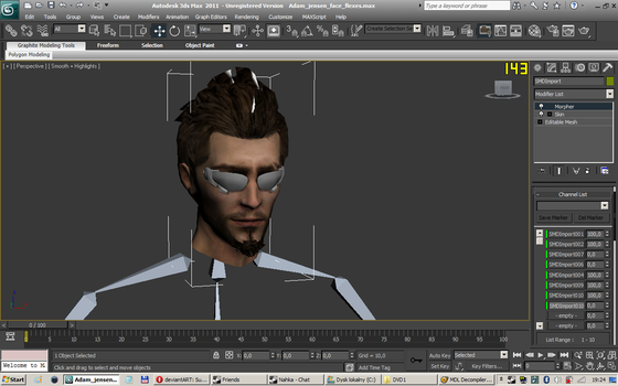 Adam Jensen WIP face by coverop