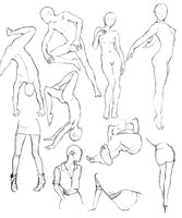 Anatomy Sketches by INSANELY-CRAZY
