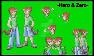 Character Sheet: Hero and Zero by charryblossom