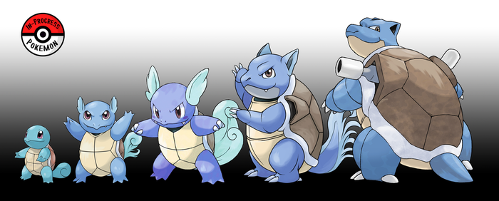 007 - 009 Squirtle Line (Redo) by InProgressPokemon
