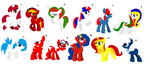 ~ Country Flags Themed Pony Adopts 2 ~ CLOSED by IIbukiMioda